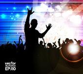 Disco party. Music event. Vector — Stock Vector