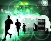 Sport. Runners — Stock Photo