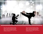 Karate. Vector — Stockvektor
