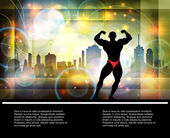 Homme athlétique, musclé — Vecteur