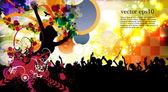 Dancing . Vector — Stock Vector