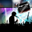 Music event background — Stock Vector