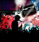 Music event background — Vector de stock