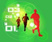 Illustrazione vettoriale modificabile di sport — Vettoriale Stock