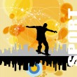Grunge skateboarding vector - 