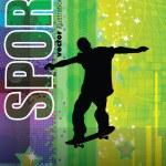 grunge vecteur skateboard — Vecteur