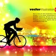 Sport road bike rider bicycle. Vector - Imagen vectorial
