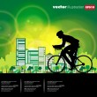 Sport road bike rider bicycle. Vector - Stock vektor