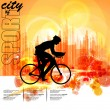 Sport road bike rider bicycle. Vector - Image vectorielle