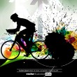 Sport road bike rider bicycle. Vector - Stok Vektör