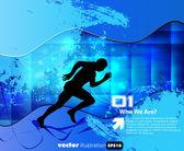 Editable vector illustration of sport — Stock Vector