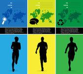 Bewerkbare vectorillustratie van de sport — Stockvector