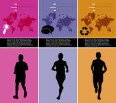 Redigerbara vektor illustration av sporten — Stockvektor