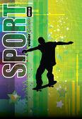 Grunge skateboarding vector — Stock Vector