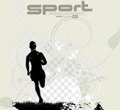 スポーツの編集可能なベクトル イラスト — ストックベクタ