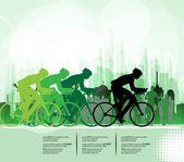 Esporte estrada bicicleta rider bicicleta. Vector — Vetor de Stock