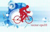 Sport road bike rider bicycle. Vector — Stock Vector