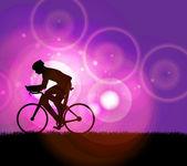 Sport road bike rider bicycle. Vector — Stock Vector