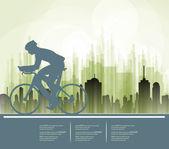 Deporte ruta ciclista bicicleta. Vector — Vector de stock