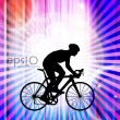 Cycling. Illustration — Stock Vector