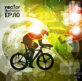 Cycling. Illustration — Stock Vector