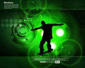 Skateboader. vector — Stock Vector