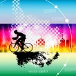 Sport road bike rider bicycle — Stock Vector