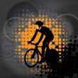 Cyclist abstract background, vector illustration — Stock Vector