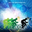 Cyclist abstract background, vector illustration — Imagen vectorial