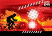 Sfondo astratto del ciclista, illustrazione vettoriale — Vettoriale Stock