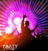 Music party. Vector — Stock Vector