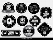 Set of Premium Quality Labels — Stock Vector