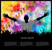 Vektör kulaklık illüstrasyon — Vector de stock