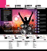 Website Template. Vector — Stock Vector