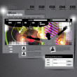 Website Template. Vector — Image vectorielle