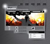 Шаблон веб-сайта. Вектор — Cтоковый вектор