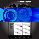 Web サイト テンプレート。ベクトル — ストックベクタ