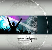 Discoteque music background — Stock Vector