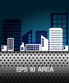 Creatieve stedelijk landschap — Stockvector