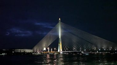 Rama 8 bridge — Stockvideo
