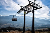 Chair-lift in Tatra Mountains — Stock Photo