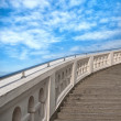 Stairs towards to blue sky — Stock Photo