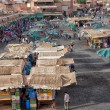 Market in the famous public square, in Marrakech, Morocco on Dec. 24, 2012. — Stock Photo #31765737