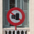 Sign stop photographing — Stockfoto