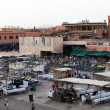 Market in the famous public square, in Marrakech, Morocco on Dec. 24, 2012. — Stockfoto