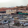 Market in the famous public square, in Marrakech, Morocco on Dec. 24, 2012. — Stock Photo #31766253