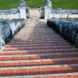 Old long steps to the temple — Stock Photo