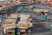 Market in the famous public square, in Marrakech, Morocco on Dec. 24, 2012. — Stock Photo