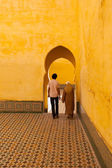 Ancient traditional Arabian architecture - door — 图库照片
