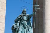 Statue of St. Stephen, Budapest — Stock Photo